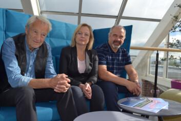 Her er forskerene bak studien: Karl Jan Solstad, Therese Andrews og Jarle Løvland. (Foto: Hanne Risa / Nordlandsforskning)