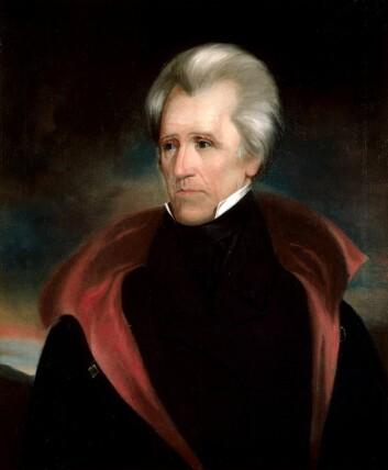 Portrett av Andrew Jackson, USAs syvende president. (Portrett: Ralph E. W. Earl)(Foto: www.whitehouse.gov)
