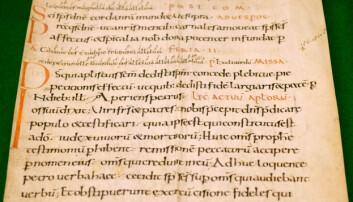 Dette er et av de eldste dokumentene Weidling og Karlsen har funnet. De anslår at det stammer fra midten av 1000-tallet. (Foto: Silja Björklund Einarsdóttir/forskning.no)