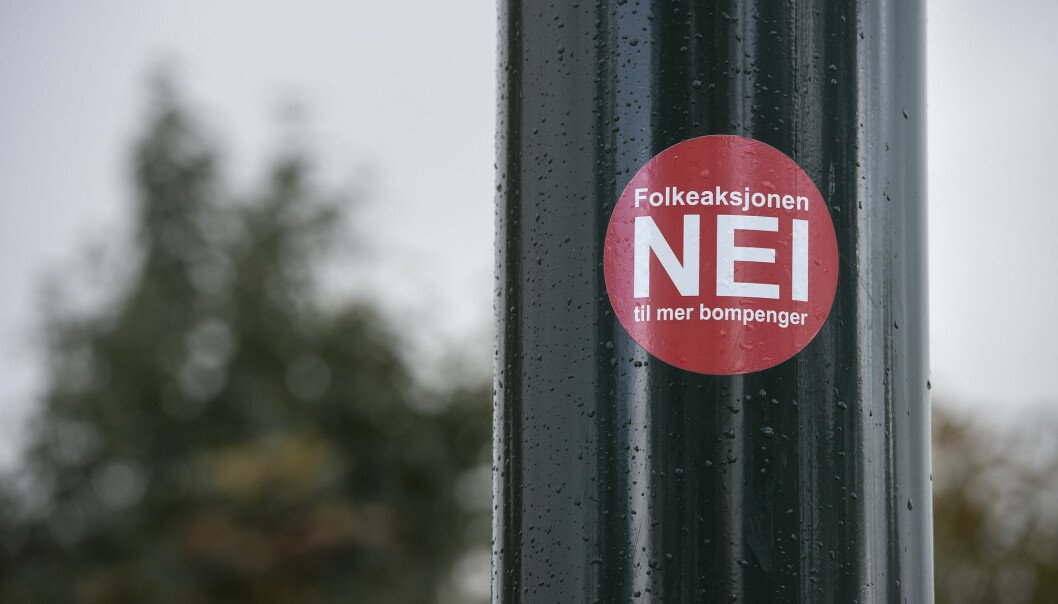 Folkeaksjonen nei til mer bompenger er registrert som parti og stiller liste i en rekke fylker og kommuner ved høstens valg. (Foto: Carina Johansen, NTB scanpix)