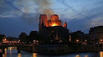 Frankrike-ekspert: – Kolossalt tap av kulturarv