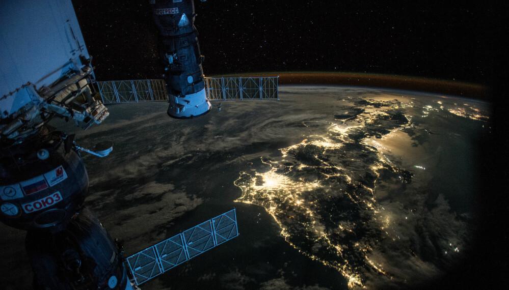 Kveldstid i Japan. (Foto: NASA)
