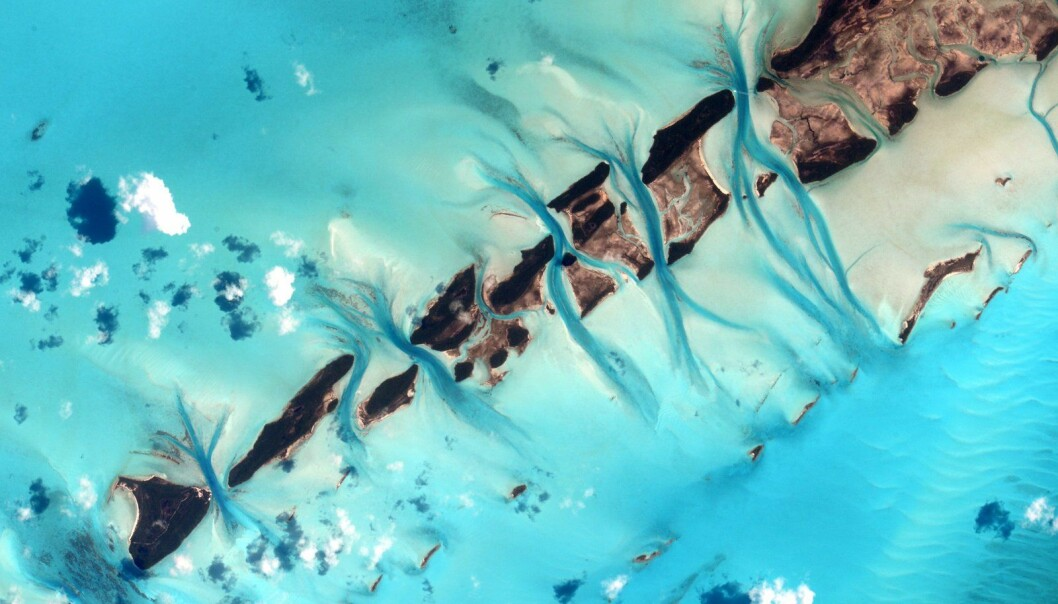 BIlde av Bahamas. (Foto: NASA)