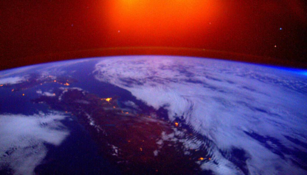 Soloppgang over New Zealand. (Foto: NASA)