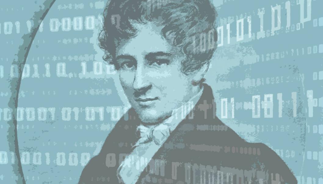 Abels bane-brytende matematiske oppdagelse brukes i dag på Internett til å lage den matematiske oppskriften som trengs for å utveksle krypteringsnøkler mellom sender og mottaker på en sikker måte. (Illustrasjon: Hanne Utigard)