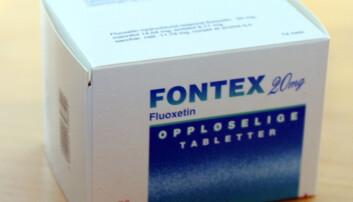 Forskerne har testet hvordan miljøet virker inn på effekten av fluoxetin, et antidepressivum som for eksempel finnes i Fontex som selges i Norge. Det er samme virkestoff som blant annet selges under merket Prozac i andre land. (Foto: Trygve Indrelid/Aftenposten /NTB Scanpix)
