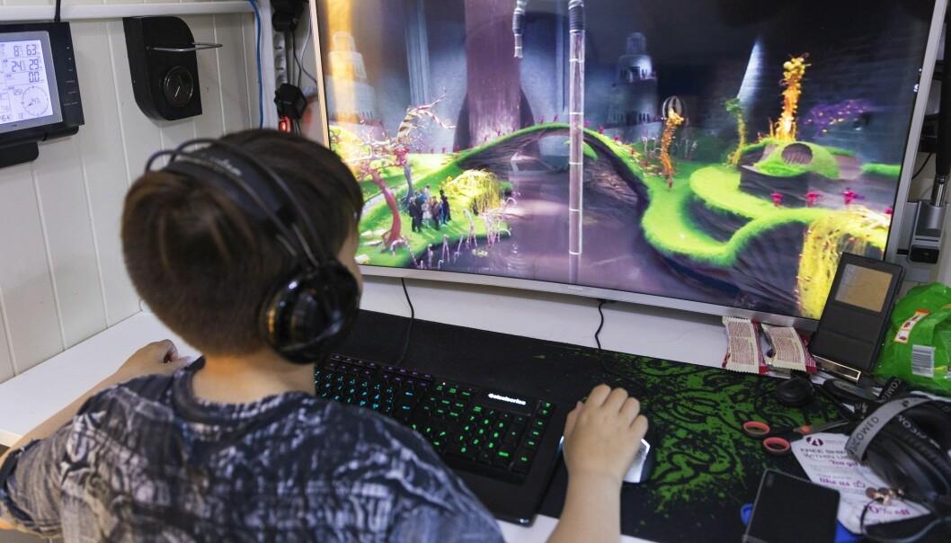 Barn og unge brukte i gjennomsnitt en time og 20 minutter på digitale spill i fjor. (Illustrasjonsfoto: Gorm Kallestad, NTB scanpix)