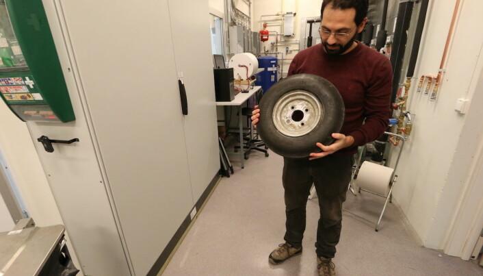 Giudici brukte dette standarddekket under forsøkene. (Foto: Nancy Bazilchuk/NTNU)