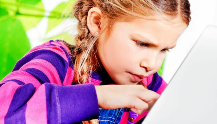 Gøy, men på skolen er målet med spill å lære. (Foto: Elisabeth Tønnessen)