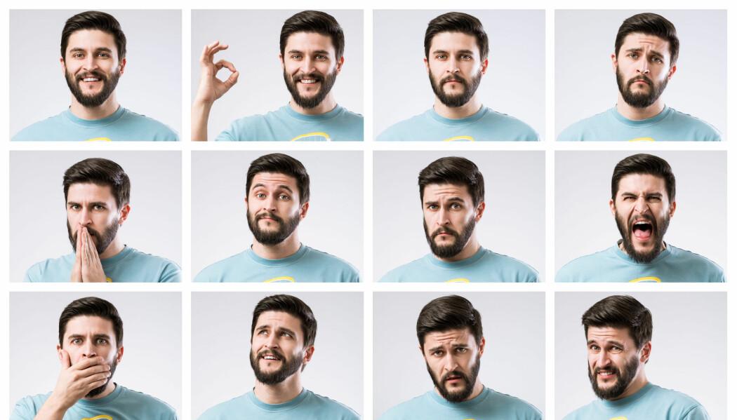 Vi kan bruke ansiktet vårt til å signalisere mer enn 20 forskjellige kategorier av følelser. (Foto: Azret Ayubov, Shutterstock, NTB scanpix)