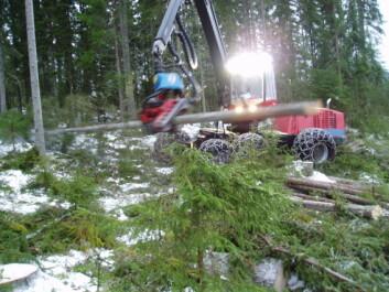 En skogsmaskinfører skal både være dyktig som maskinfører og ha kunnskap om naturvern og biologisk mangfold. (Foto: Leif Kjøstelsen / NIBIO)