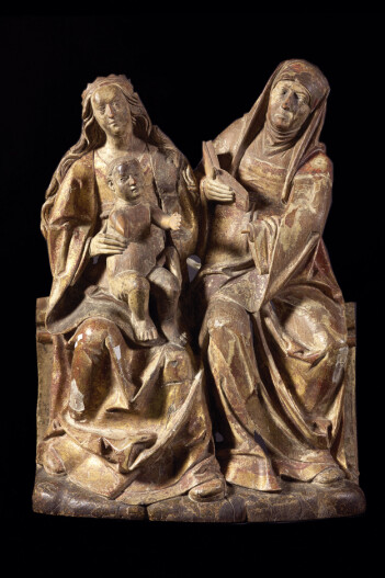 St. Anna, moren til jomfru Maria og bestemoren til Jesus, var en svært viktig helgen i Norge før reformasjonen. (Foto: Ellen C. Holte/KHM)
