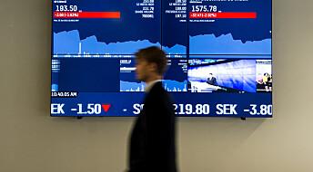Svenske finanseksperter gjorde det ikke bedre på aksjemarkedet enn vanlige folk