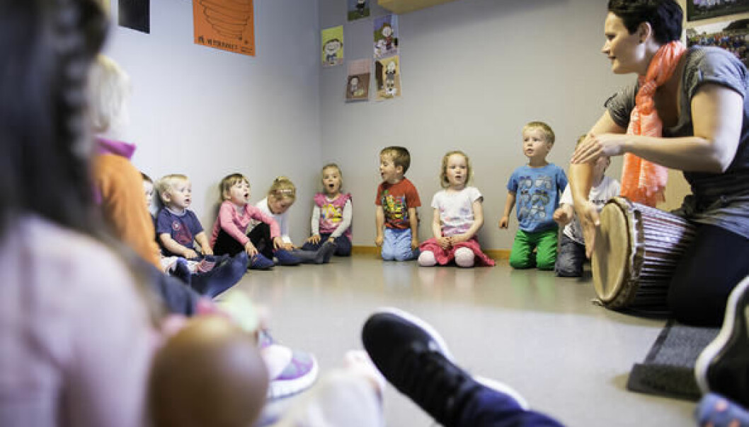 Et stort EU-støttet prosjekt skal forbedre livskvaliteten til barn i barnehagene.  (Foto: Steinar Figved)