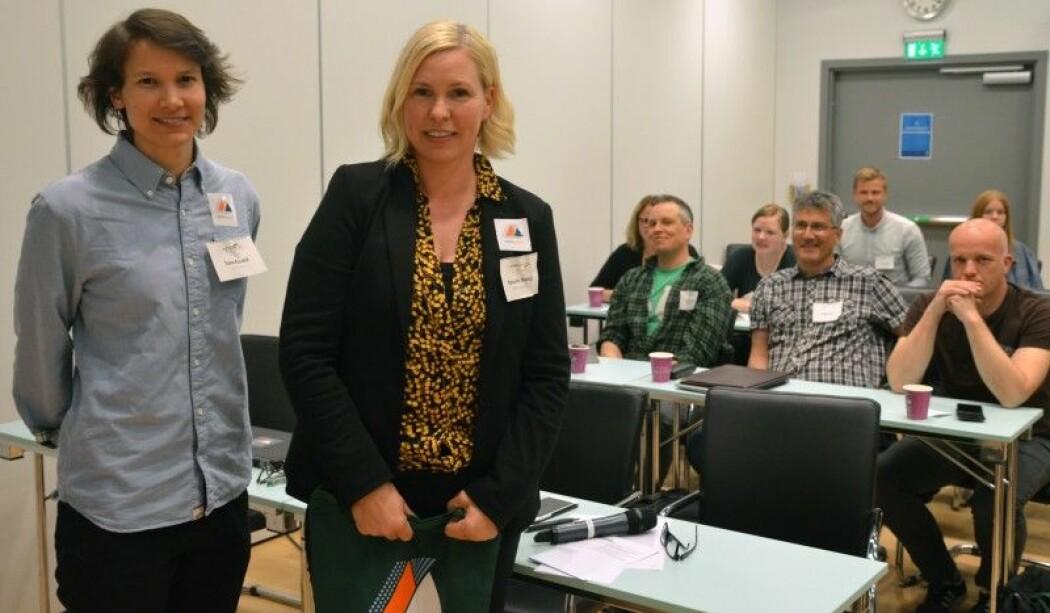 – Vi har fått ein unik posisjon innan klimatilpassing her i Sogn, seier forskar Torunn G. Hønsi (til høgre).