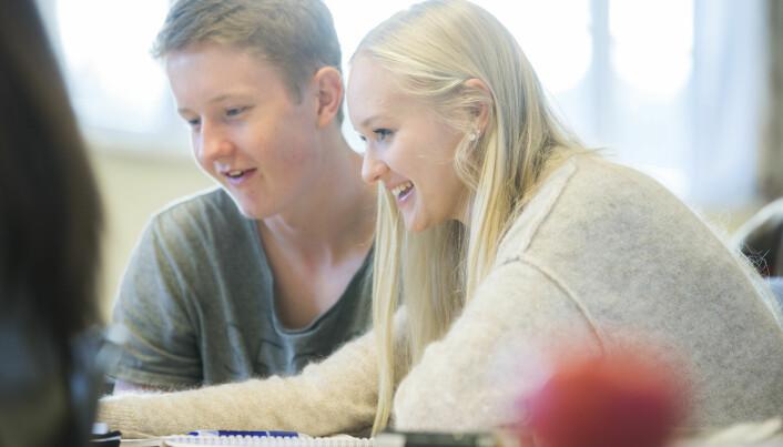 Kjønnsforskjellene i norsk skole er større enn i andre land. De er nå blitt så synlige at de drøftes som et samfunnsproblem av både politikere, foreldre og andre. (Illustrasjonsfoto: Berit Roald / NTB scanpix)