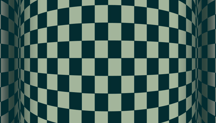 Illusjon er et sansebedrag. Hjerne kan tro at en optisk illusjon av et stillbilde er i bevegelse. (Illustrasjon: Colourbox)
