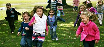 Høg puls er bra for helsa til barn
