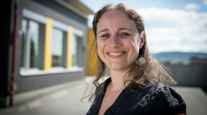 Sara Hertzberg er kontaktlærer for 27 niendeklassinger på Kjeller skole. (Foto: Kristin Mehlum)