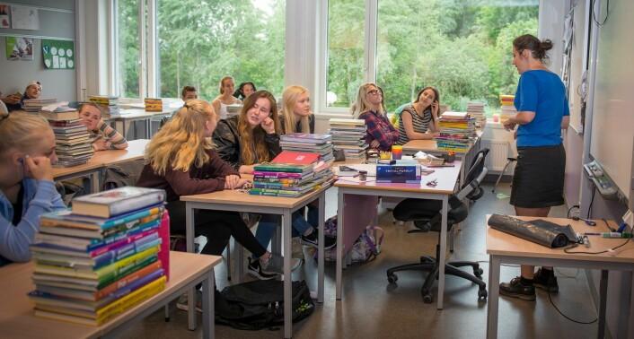 God relasjon mellom læreren og elevene gir både økt trivsel og mer læring, mener elevene ved Kjeller skole. (Foto: Kristin Mehlum)