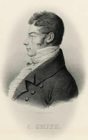 Christen Smith var både økonom, botaniker og den norske fjellturismens far. Tegningen er fra ca. 1810.