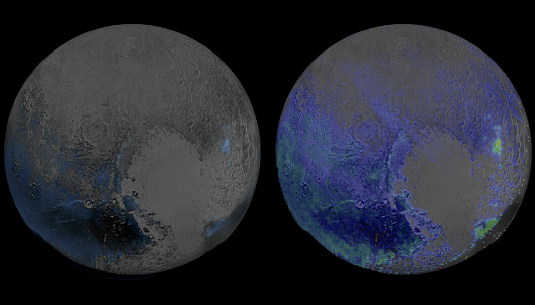 Salt hav under isen på Pluto
