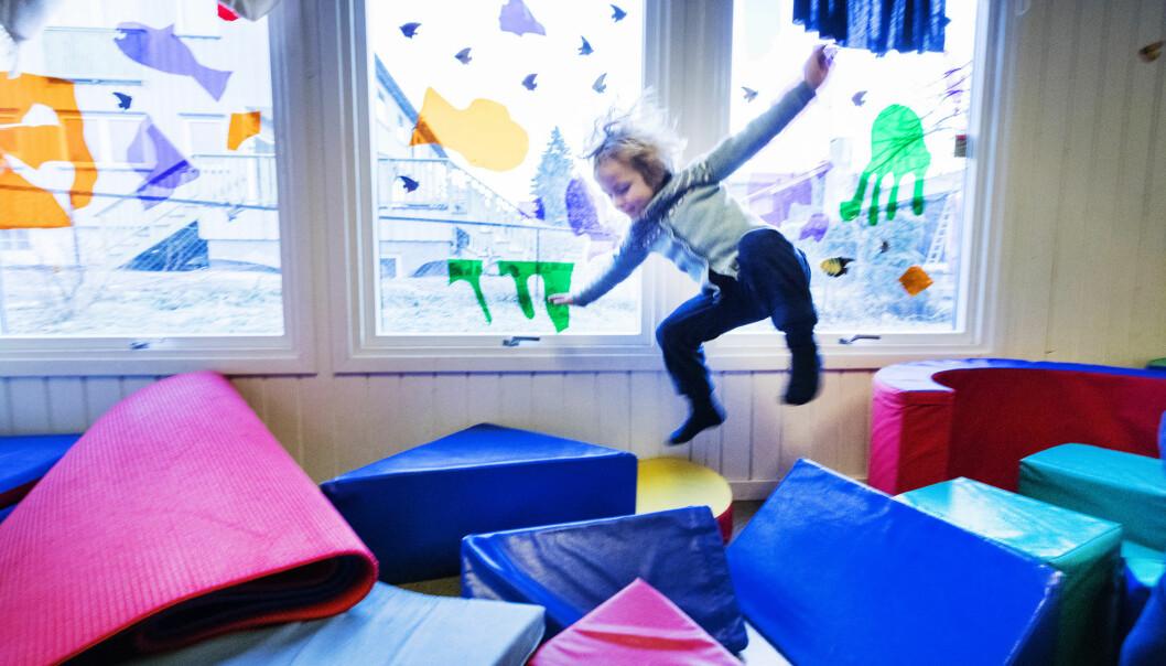 Barnehagen spiller en stor rolle for hvor aktive barna er, ifølge en ny studie. (Illustrasjonsfoto: Gorm Kallestad / NTB scanpix)