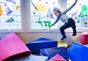 Barnehagen avgjør hvor aktive barna er
