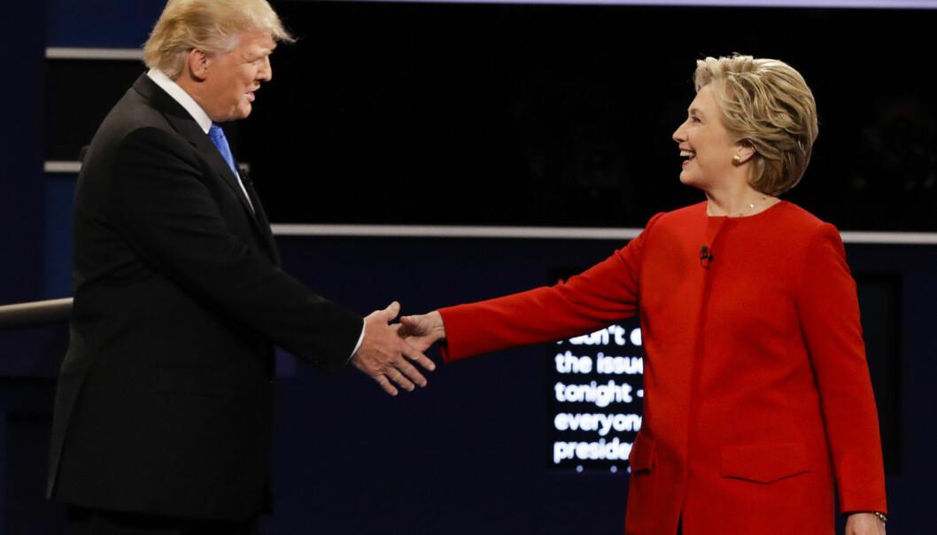 Retorikkekspert mener Hillary Clinton kom en anelse bedre ut av debatten enn det Donald Trump gjorde.  (Foto: AP Photo/David Goldman/NTB Scanpix)