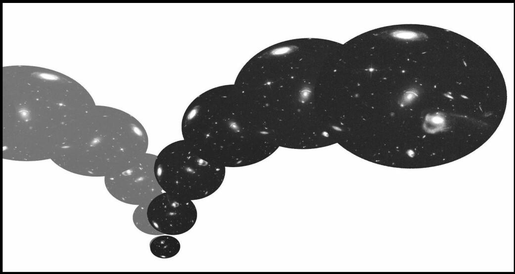 Big Bounce: Kan universet være født av omslaget fra en annen tidligere tilstand? (Foto: (Illustrasjon: «Syv korte leksjoner i fysikk»))