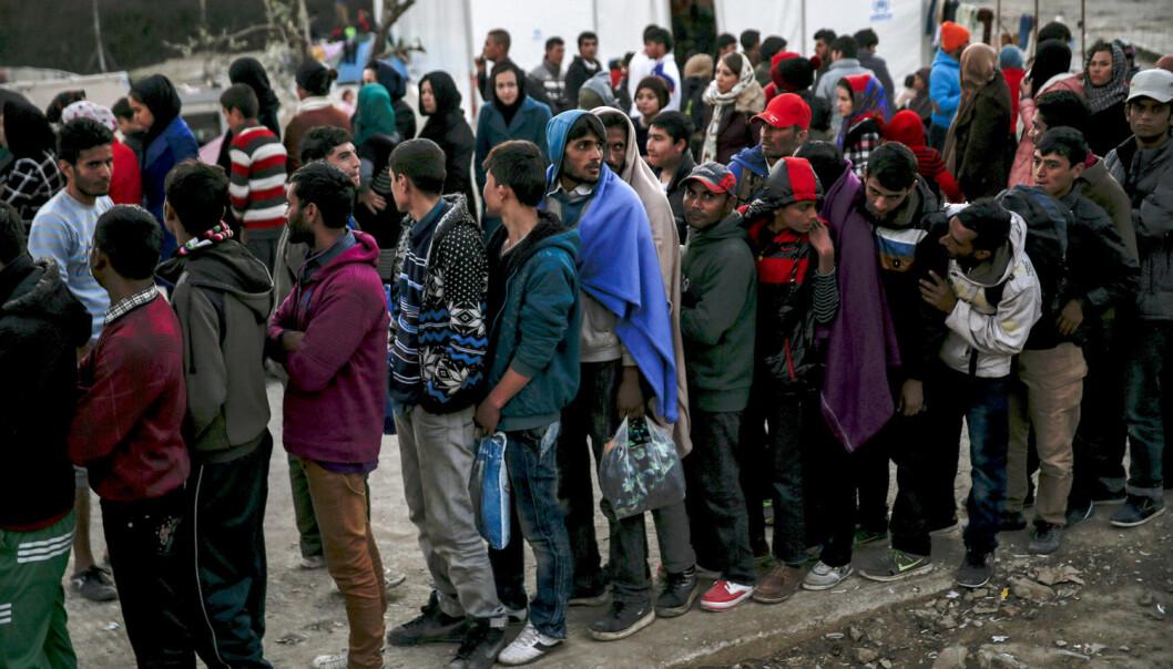 Mange flyktninger kommer til Europa via den greske øya Lesbos. (Foto: Alkis Konstantinidis/Reuters/NTB scanpix)