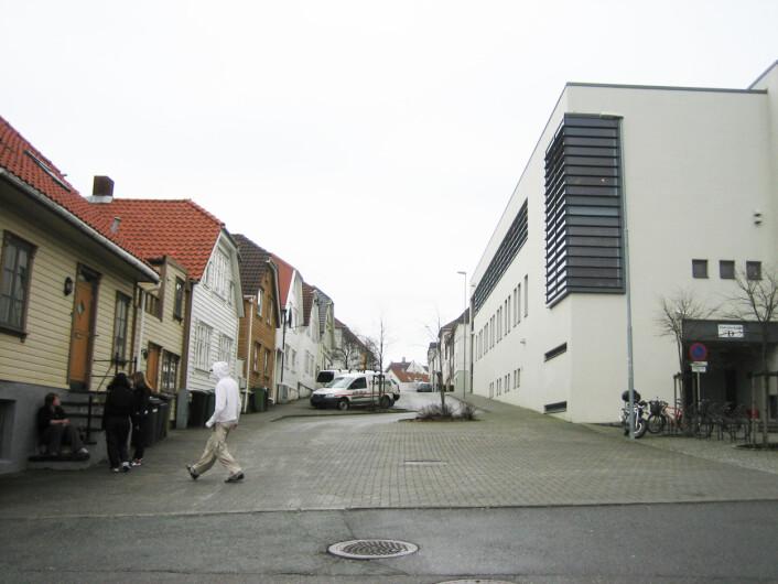 Møte mellom gammelt og nytt. Fra Stavanger 2007. Foto: Cornelis Horn Evensen, NIKU