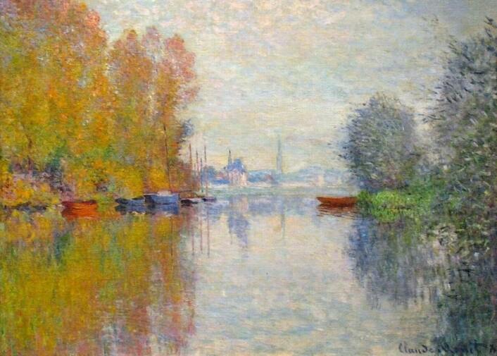 """De fleste vil i dag være eninge i at Claude Monets """"Autumn on the Seine at Argenteuil"""" fra 1873 er et godt kunstverk. Men i Monets samtid var impressjonistisk kunst utskjelt, forteller kunsthistoriker Jorunn Veiteberg. (Foto: Wikiart.org)"""