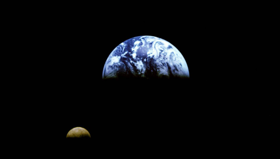 Kjempekrasj ga oss månen