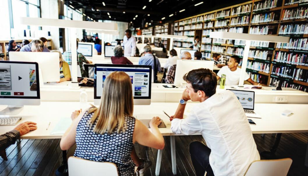 – Bibliotekenes søkesystemer må utformes annerledes for å være tilgjengelig for dyslektikere, mener bibliotekar og forsker ved Høgskolen i Oslo og Akershus. (Foto: Shutterstock / NTB scanpix)