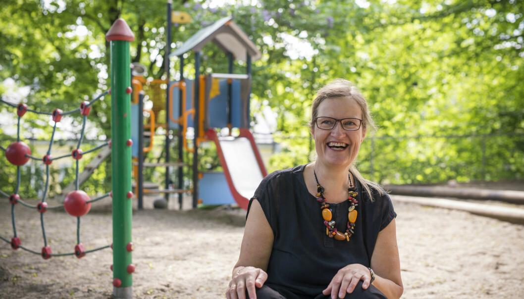 – Gjennom leken styrker barnet troen på seg selv. Det er verdt mer enn noe annet, sier Anne Greve. (Foto: Sonja Balci)