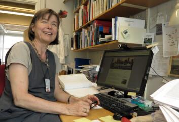 Anne Spurkland bruker Skam-metaforer for å beskrive hvordan kroppens immunforsvar virker. (Foto: Bjarne Røsjø, UiO)