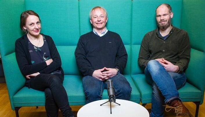 Unn H. Haukvik, Jan Ivar Røssberg og Erlend Strand Gardsjord. (Foto: Foto: Øystein Horgmo, UiO).