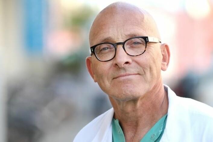 I alt 105 forskere fra alle de åtte sykehusene i Norge som tilbyr stent-behandling deltatt i prosjektet, ledet av professor og kardiolog Kaare Harald Bønaa. (Foto: St. Olavs Hospital/Frode Nikolaisen)