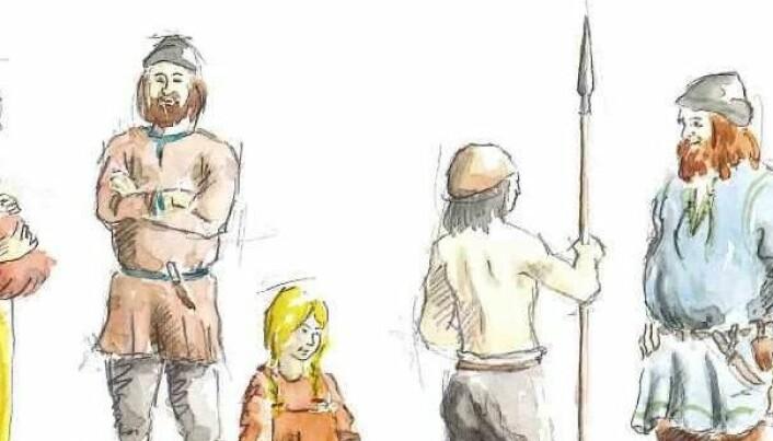Også vikingmenn hadde kjøkkenutstyr med seg i graven