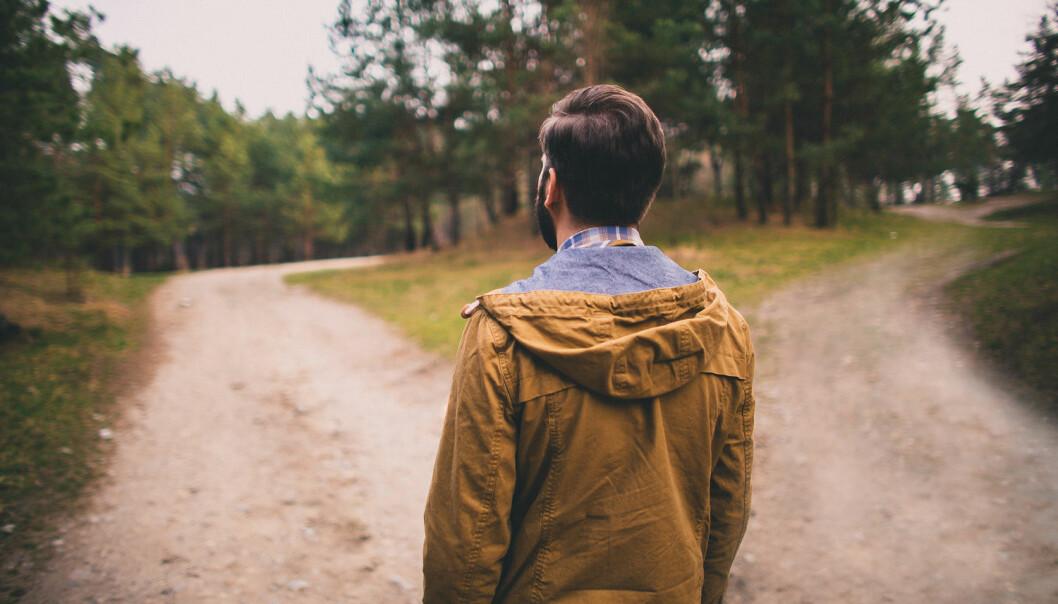Er valgene vi tar i hverdagen ekte, eller er de bare siste ledd i en lang årsakskjede vi ikke har noen kontroll over? (Foto: Shutterstock / NTB Scanpix)