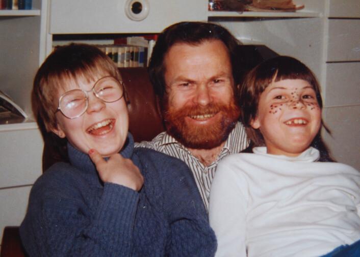 Pappas skjegg burde ikke være rødt. Men det er ingen tvil om at det er det. (Foto: Privat)