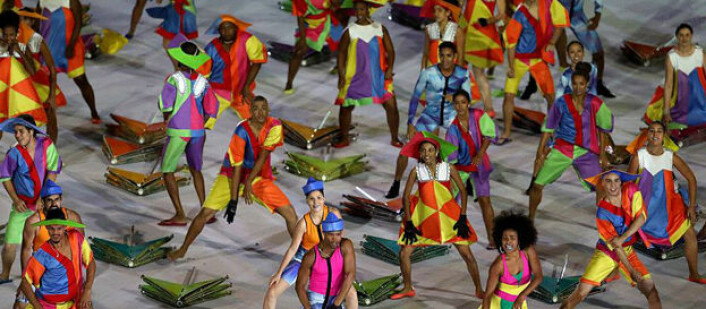 Fra åpningsseremonien i Rio. Foto: Getty Images