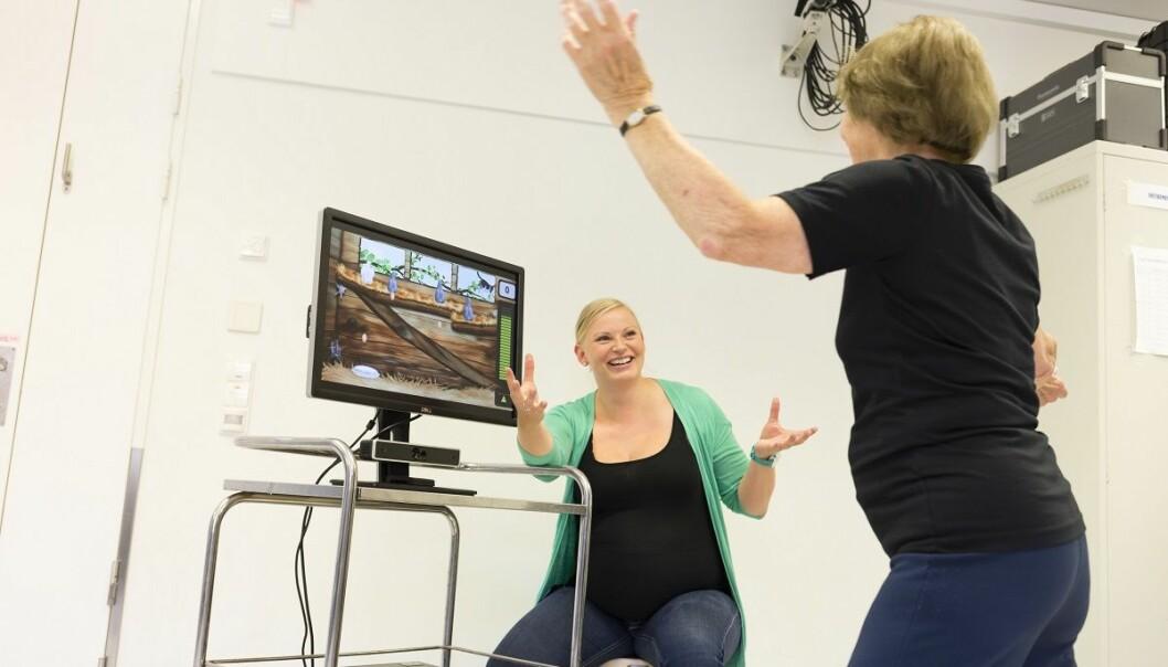 Treningsspill er velferdsteknologi som kan bidra til å løse helseutfordringene vi kommer til å få framover. (Foto: Thor Nielsen, NTNU)