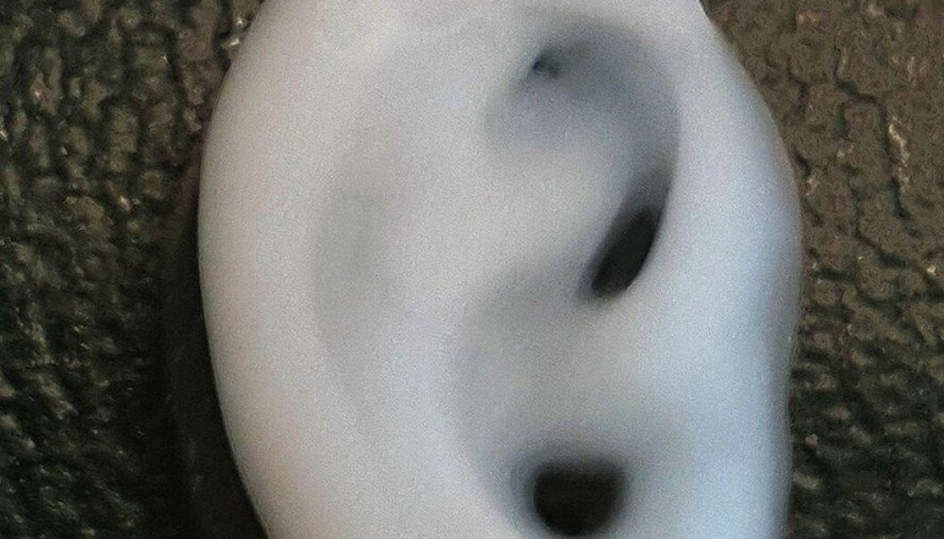 Ved å blande sulfatert alginat med nanofibre av cellulose får vi et «blekk» for 3D-printing av stillasmaterialer sammen med celler.  (Foto: Michael Müller / ETH Zürich)