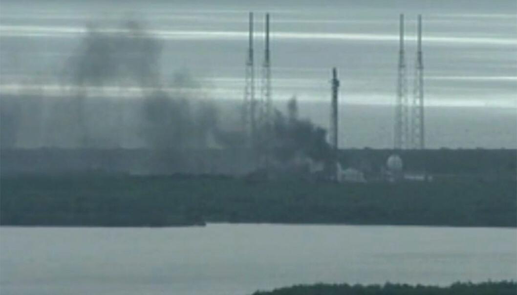 SpaceX-eksplosjonen kan utsette bemannet Falcon