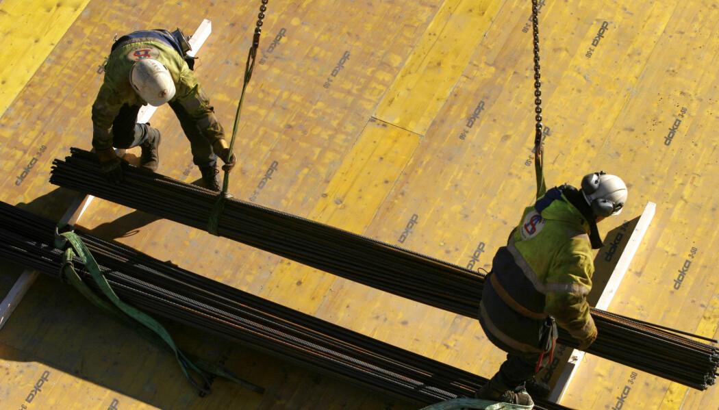 På norske byggeplasser jobber mange innvandrere fra Øst-Europa. (Illustrasjonsfoto: Jarl Fr. Erichsen/NTB scanpix)