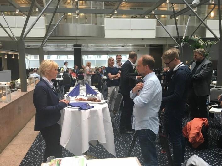 GrøntiKjøtt-prosjektet ble lansert tidligere i år med smaksprøver på løpende bånd. (Foto: Wenche Aale Hægermark)