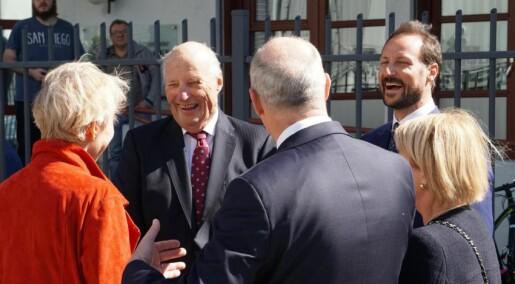 Kongelig besøk på Norges nye isgående forskningsfartøy