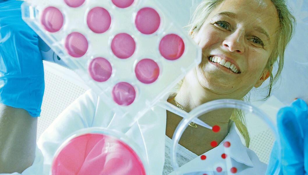 – Vi har til enhver tid halvannen kilo bakterier i kroppen. Det er like stor masse som i hjernen vår, forteller Jessica Lönn-Stensrud.  (Foto: Hanne Utigard)